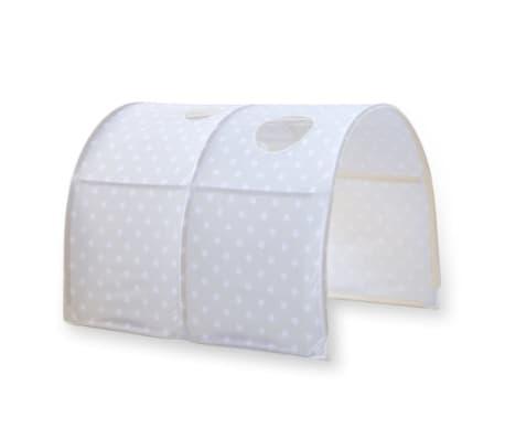 Tunnel pour lit enfant superposé tente accessoires gris avec étoile 90