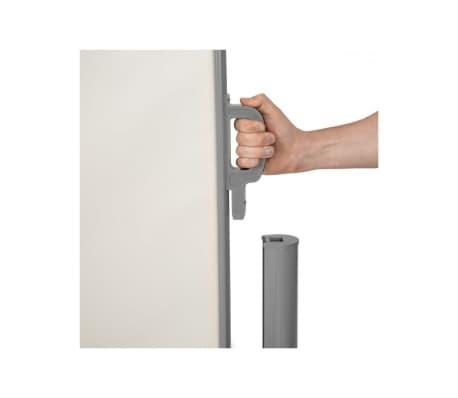 Auvent store latéral brise-vue abri soleil aluminium rétractable 180 x[4/5]