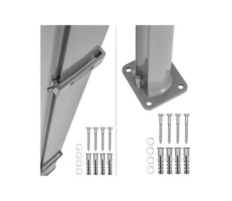 Auvent store latéral brise-vue abri soleil aluminium rétractable 180 x[5/5]
