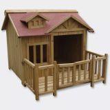 Niche à chien XL maison pour chien bois massif terrasse
