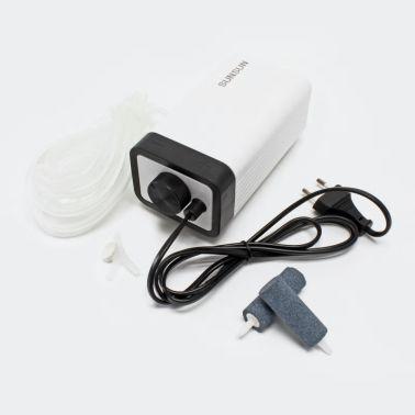 Pompe à air aérateur de bassin aquarium 2 x 2,8l / min[1/2]