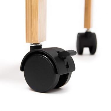 Desserte de cuisine en bambou sur roulettes avec tiroir[3/5]