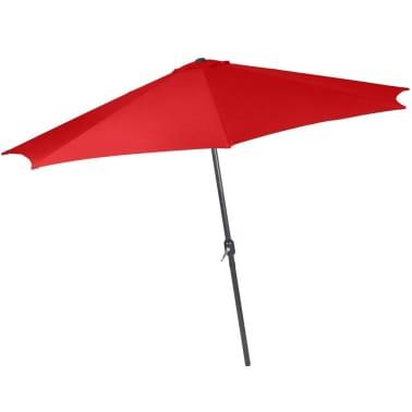 Parasol de jardin diamètre 3,5 m avec manivelle abri meuble jardin rou[1/1]