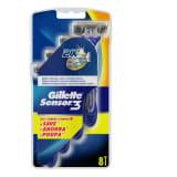 Rasoirs Jetables Sensor3 Gillette (8 uds)