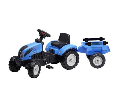 Tractor con remolque FALK Landini, 2/5 años, Azul[1/2]