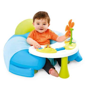 acheter smoby si ge confortable avec table d 39 activit cotoons bleu 110210 pas cher. Black Bedroom Furniture Sets. Home Design Ideas