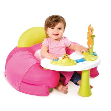 acheter smoby si ge confortable avec table d 39 activit cotoons rose 110211 pas cher. Black Bedroom Furniture Sets. Home Design Ideas