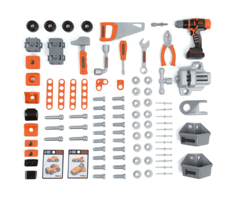 Smoby Zabawkowy stół warsztatowy Bricolo BLACK+DECKER, 79x39x103 cm[4/9]