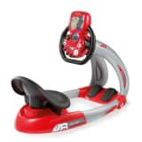 Smoby Simulador de conducción Pilot V8 rojo y negro 370206