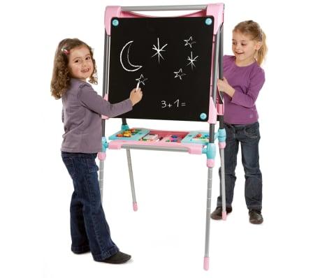 acheter smoby double chevalet r glable pour enfants rose 410203 pas cher. Black Bedroom Furniture Sets. Home Design Ideas