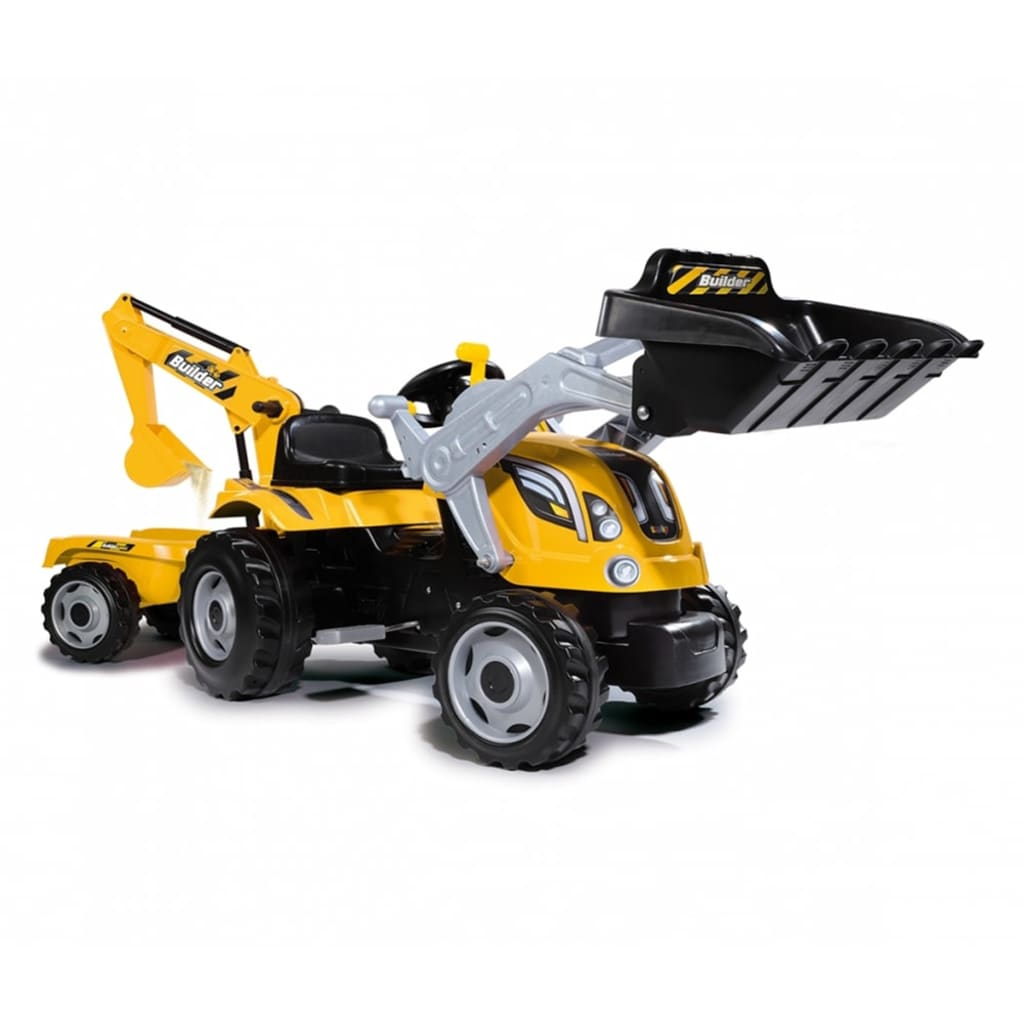 Smoby traptractor 'Builder Max, geel'