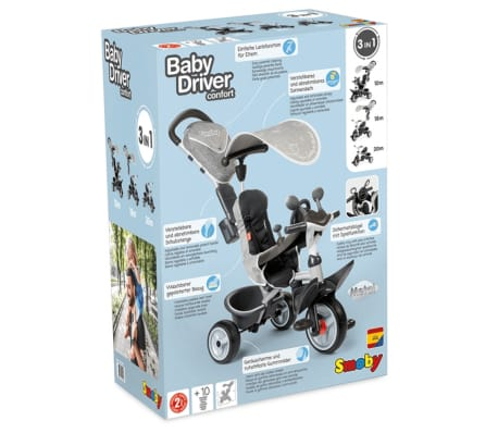 Smoby Driewieler 3-in-1 Baby Driver[10/10]