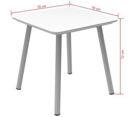 Allibert Table de jardin Julien Blanc 219259