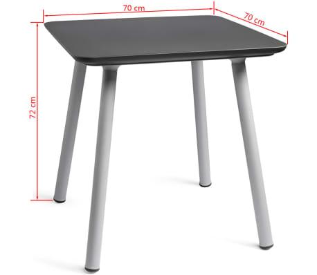 acheter allibert table de jardin julien graphite 219262 pas cher. Black Bedroom Furniture Sets. Home Design Ideas