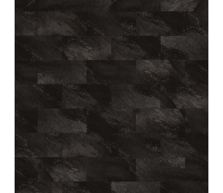 Grosfillex Wandfliesen Gx Wall+ 11 Stk. Stein 30x60 cm Schwarz
