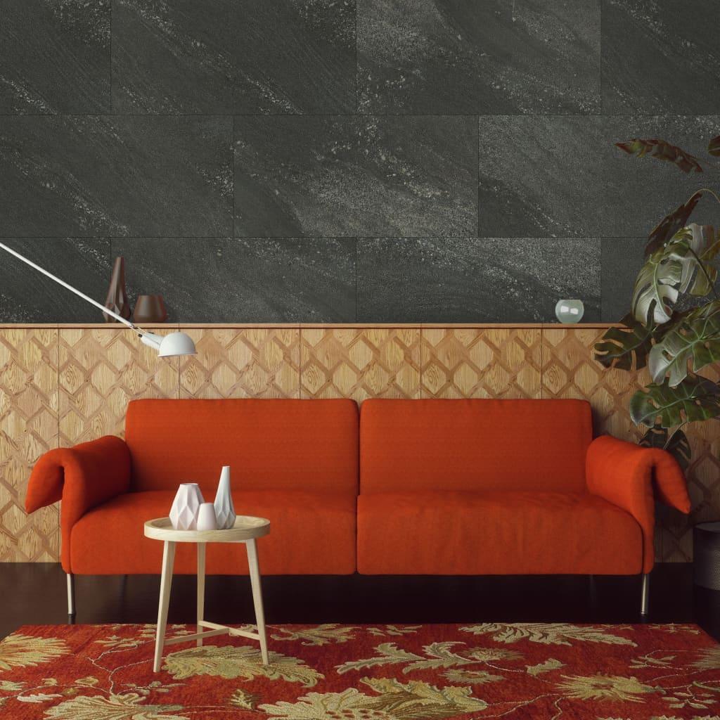 Grosfillex Plăci acoperire perete Gx Wall+ 11 buc negru 30x60cm piatră imagine vidaxl.ro