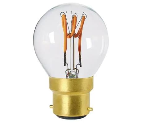 Sphérique G45 filament LED 3 loops 3W B22 2200K 120Lm dim Cl.[1/1]