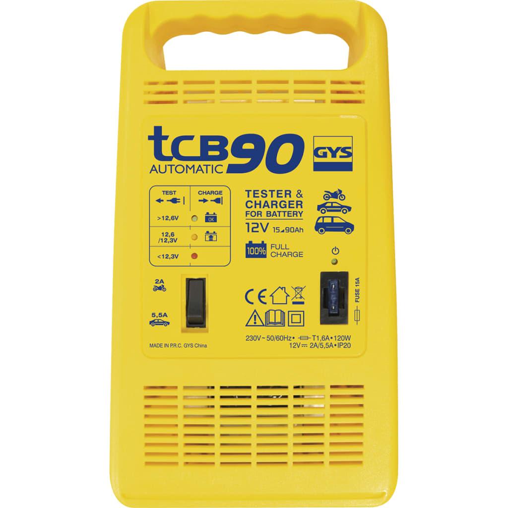 GYS acculader, 230V, verm 120W, accu-verm 15 90Ah, floating proces