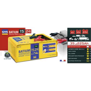 GYS Chargeur de batterie BATIUM 15-24 35-225 Ah 450 W 7/10/15 A[2/2]