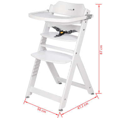 safety 1st high chair timba white wood 27624310. Black Bedroom Furniture Sets. Home Design Ideas