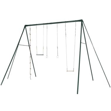 TRIGANO Jeu de balançoires Silver 600 x 350 x 350 cm Acier J-4577-1[1/4]