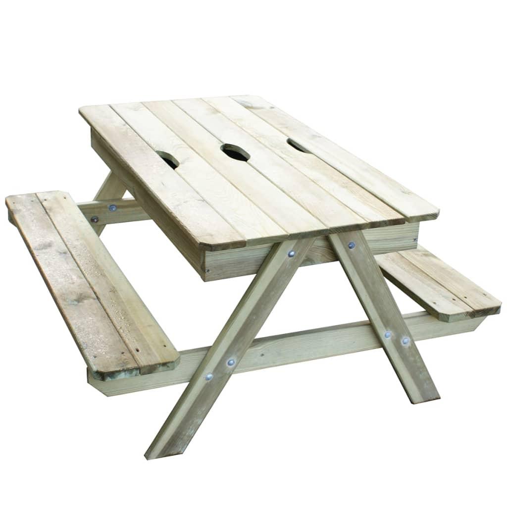 TRIGANO Piknikbord for barn Picsand 100x97x57 cm J-JOU054