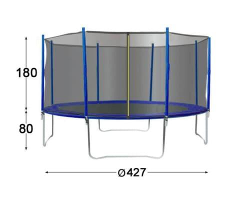 TRIGANO Trampoline avec filet de sécurité 427 cm J-JOU079[2/2]