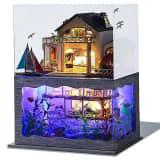 Maisons de poupée en bois kit de meubles miniatures jouets pour