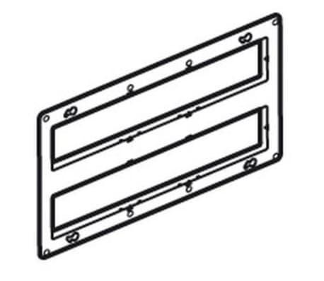 Support grand format Batibox Legrand pour Mosaic - 2 x 10 modules[1/1]