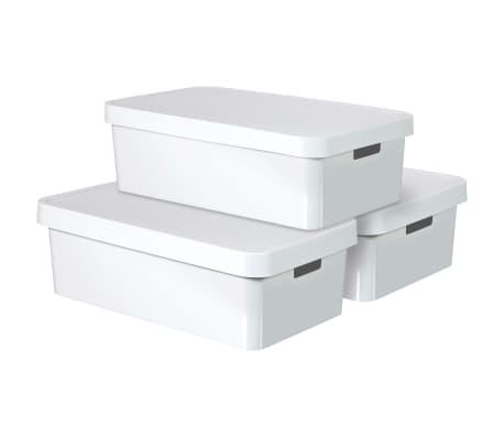 Curver Cajas de almacenaje Infinity 3 unidades 30L blanco 240671[1/2]