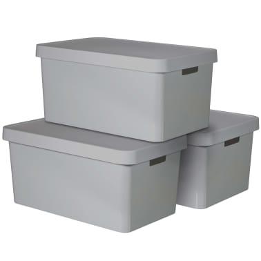 Curver Caja de almacenaje Infinity 3 unidades 45 L gris 240659[2/2]