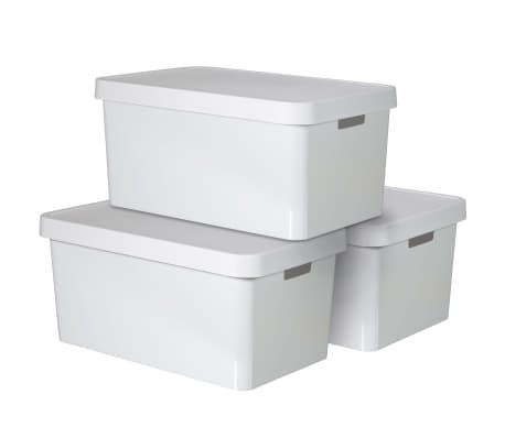 Curver Úložné boxy s poklopmi 3 ks 45 l biele 240683 Infinity