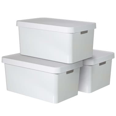 Curver Cajas de almacenaje Infinity 3 unidades 45 L blanco 240683[2/2]