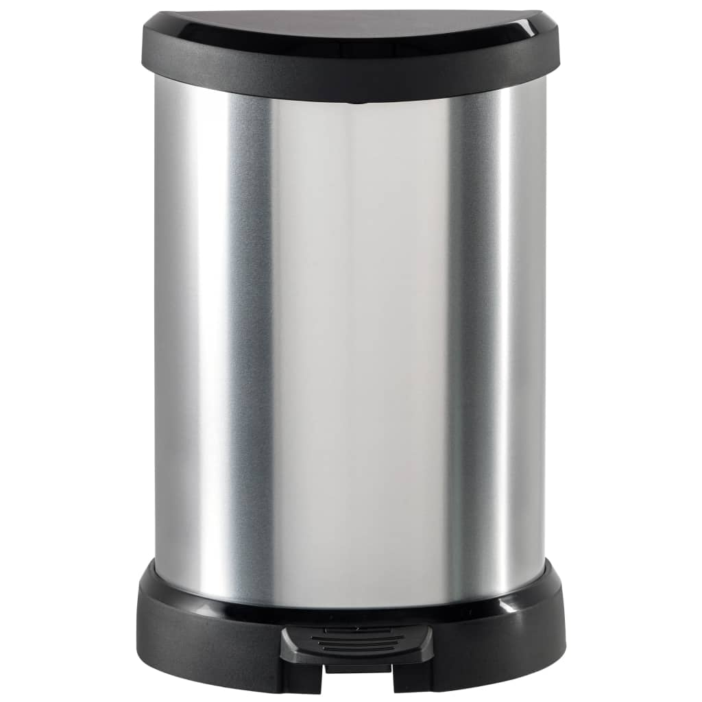 Curver Ladă de gunoi cu pedală Deco argintiu 20 L coș interior 240568 vidaxl.ro