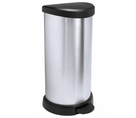 Curver Ladă de gunoi cu pedală Deco argintiu 40 L 240637