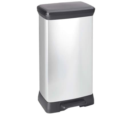 Curver Ladă de gunoi cu pedală Deco argintiu 50 L 240643