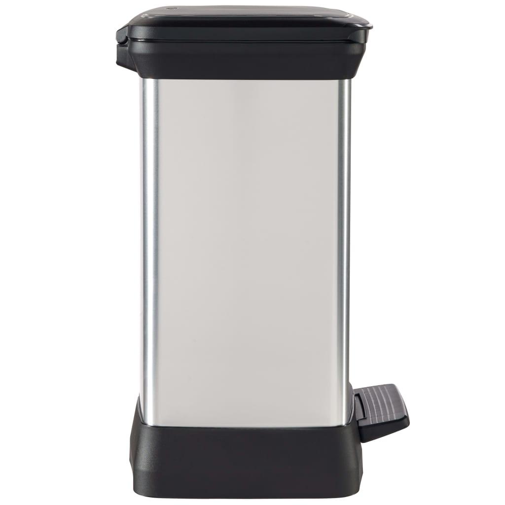 Curver Ladă de gunoi cu pedală Deco argintiu 30 L 240642 vidaxl.ro
