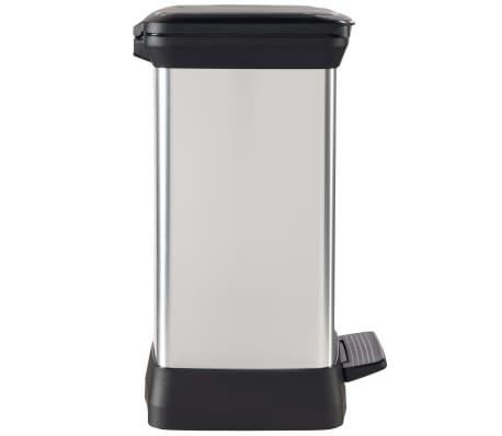 Curver Ladă de gunoi cu pedală Deco argintiu 30 L 240642