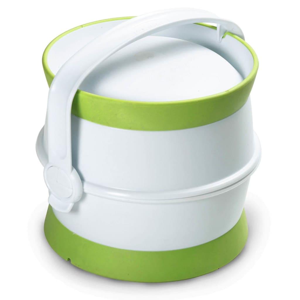 Afbeelding van Curver Voedselcontainer huisdieren reisset 1,5 L wit en groen 794020