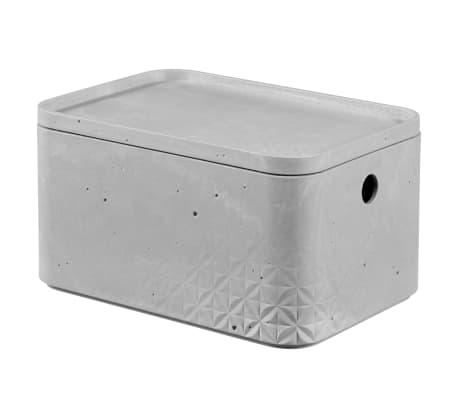 Curver Cajas de almacenaje con tapa Beton 3 piezas S+M gris claro[3/5]