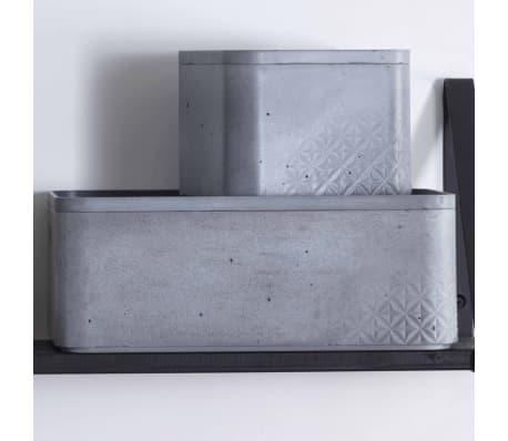 Curver Cajas de almacenaje con tapa Beton 3 piezas S+M gris claro[5/5]