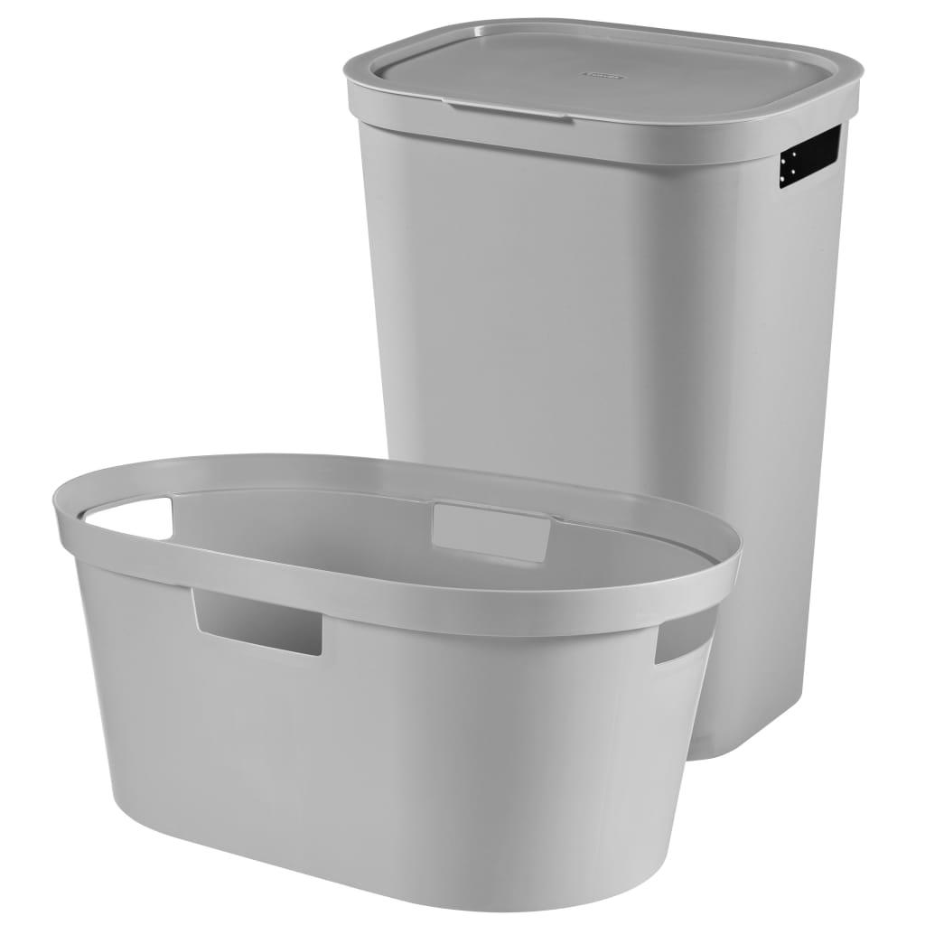 Afbeelding van Curver Wasbox en wasmand Infinity 100 L grijs 240730