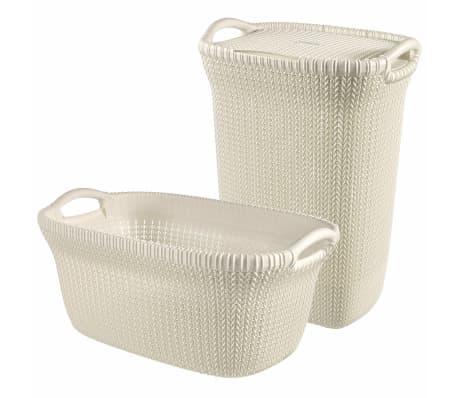 Curver Cesto de ropa sucia y de colada Knit blanco 97 L 240685[2/2]
