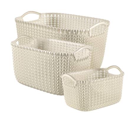 Curver Juego de cestas Knit 3 unidades blancas 240648[2/2]