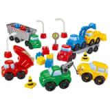 Abrick site de construction avec 7 véhicules