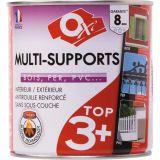 Peinture satinée multi-supports TOP3 - 0.5 L - Blanc - OXI