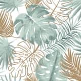DUTCH WALLCOVERINGS Tapetai, žalios spalvos, su monstera lapais
