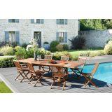 Salon jardin n°103-table200/300 x 120 cm 8 chaises en teck