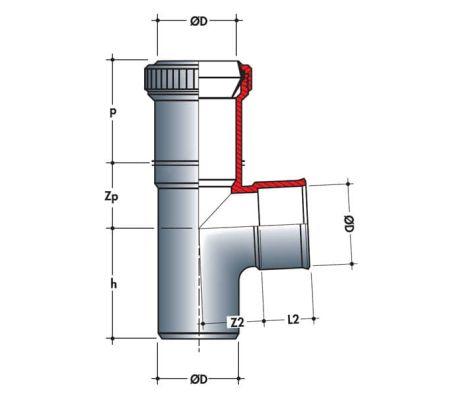 Embranchement de dilatation mf 87°30 Ø100/32[2/2]