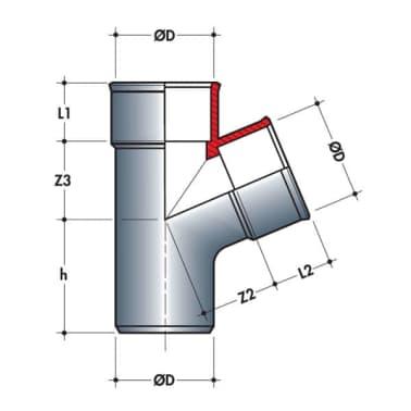 Embranchement simple mf 67°30 Ø125/50[2/2]